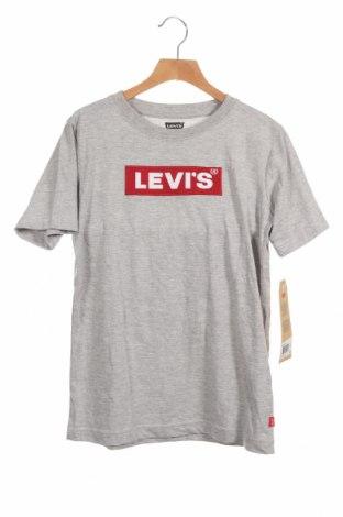 Παιδικό μπλουζάκι Levi's, Μέγεθος 11-12y/ 152-158 εκ., Χρώμα Γκρί, 60% βαμβάκι, 40% πολυεστέρας, Τιμή 17,18€
