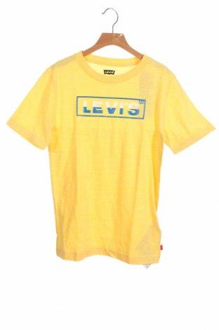 Παιδικό μπλουζάκι Levi's, Μέγεθος 13-14y/ 164-168 εκ., Χρώμα Κίτρινο, 60% βαμβάκι, 40% πολυεστέρας, Τιμή 18,44€