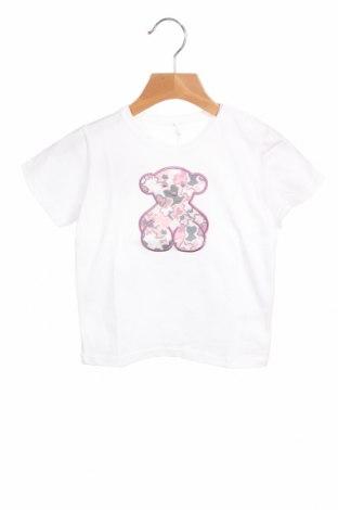 Παιδικό μπλουζάκι Tous, Μέγεθος 18-24m/ 86-98 εκ., Χρώμα Λευκό, 90% βαμβάκι, 10% ελαστάνη, Τιμή 12,37€