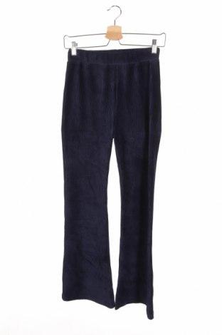 Dětské manšestráky  Hema, Velikost 10-11y/ 146-152 cm, Barva Modrá, 70% bavlna, 27% polyester, 3% elastan, Cena  134,00Kč