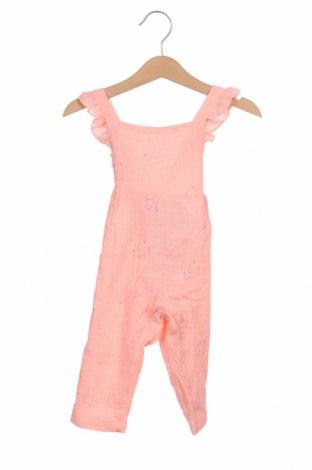 Детски гащеризон Little Celebs, Размер 9-12m/ 74-80 см, Цвят Розов, Памук, Цена 5,88лв.