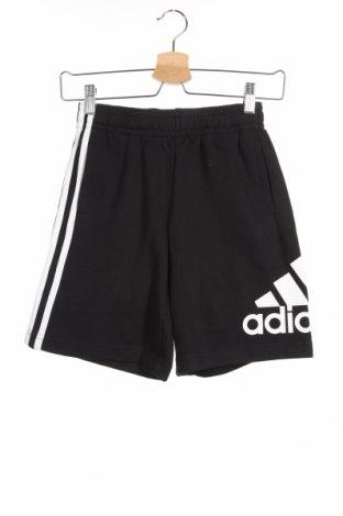 Παιδικό κοντό παντελόνι Adidas, Μέγεθος 8-9y/ 134-140 εκ., Χρώμα Μαύρο, 70% βαμβάκι, 30% πολυεστέρας, Τιμή 18,95€
