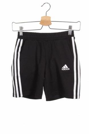 Детски къс панталон Adidas, Размер 8-9y/ 134-140 см, Цвят Черен, 53% памук, 47% полиестер, Цена 21,12лв.