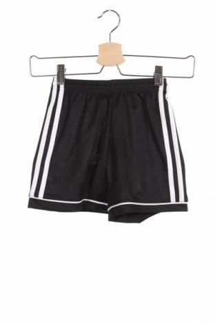 Παιδικό κοντό παντελόνι Adidas, Μέγεθος 5-6y/ 116-122 εκ., Χρώμα Μαύρο, Πολυεστέρας, Τιμή 18,95€