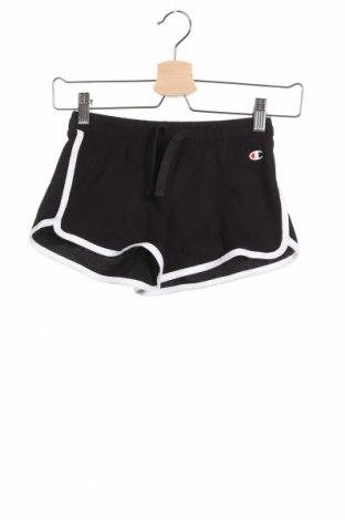 Παιδικό κοντό παντελόνι Champion, Μέγεθος 7-8y/ 128-134 εκ., Χρώμα Μαύρο, Βαμβάκι, Τιμή 17,01€