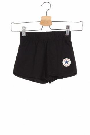 Παιδικό κοντό παντελόνι Converse, Μέγεθος 3-4y/ 104-110 εκ., Χρώμα Μαύρο, 60% βαμβάκι, 40% πολυεστέρας, Τιμή 17,78€