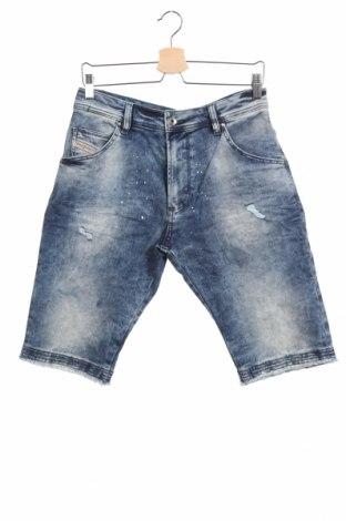 Παιδικό κοντό παντελόνι Diesel, Μέγεθος 14-15y/ 168-170 εκ., Χρώμα Μπλέ, 84% βαμβάκι, 14% πολυεστέρας, 2% ελαστάνη, Τιμή 42,14€
