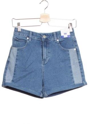 Pantaloni scurți pentru copii Free, Mărime 15-18y/ 170-176 cm, Culoare Albastru, 72% bumbac, 22% poliester, 4% viscoză, 2% elastan, Preț 23,21 Lei