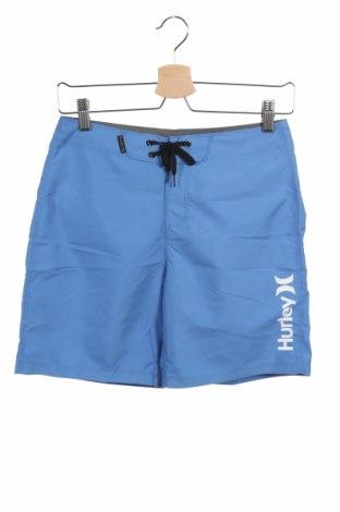 Dětské krátké kalhoty  Hurley, Velikost 10-11y/ 146-152 cm, Barva Modrá, Polyester, Cena  110,00Kč
