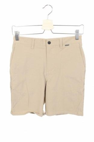 Детски къс панталон Hurley, Размер 10-11y/ 146-152 см, Цвят Бежов, 70% полиамид, 24% полиестер, 6% еластан, Цена 5,44лв.