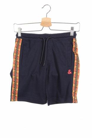 Παιδικό κοντό παντελόνι Jack & Jones, Μέγεθος 9-10y/ 140-146 εκ., Χρώμα Μπλέ, 60% πολυεστέρας, 40% βαμβάκι, Τιμή 15,08€