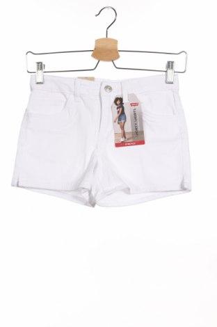 Παιδικό κοντό παντελόνι Levi's, Μέγεθος 11-12y/ 152-158 εκ., Χρώμα Λευκό, 97% βαμβάκι, 3% ελαστάνη, Τιμή 18,95€