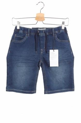 Παιδικό κοντό παντελόνι Name It, Μέγεθος 10-11y/ 146-152 εκ., Χρώμα Μπλέ, 70% βαμβάκι, 27% πολυεστέρας, 3% ελαστάνη, Τιμή 13,92€