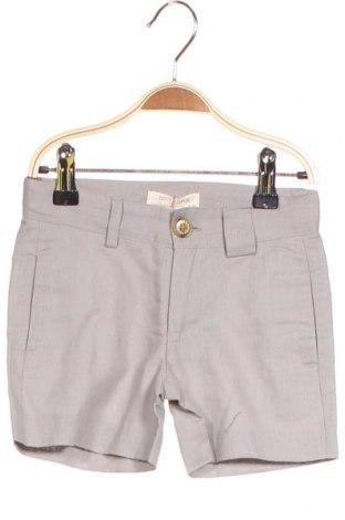 Παιδικό κοντό παντελόνι Neck & Neck, Μέγεθος 2-3y/ 98-104 εκ., Χρώμα Γκρί, 55% λινό, 45% βαμβάκι, Τιμή 15,08€