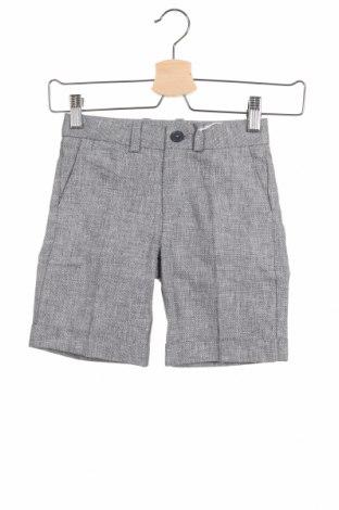Παιδικό κοντό παντελόνι Primigi, Μέγεθος 4-5y/ 110-116 εκ., Χρώμα Γκρί, 55% λινό, 45% βαμβάκι, Τιμή 20,88€