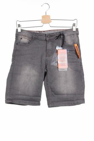 Παιδικό κοντό παντελόνι Staccato, Μέγεθος 10-11y/ 146-152 εκ., Χρώμα Γκρί, 80% βαμβάκι, 19% πολυεστέρας, 1% ελαστάνη, Τιμή 13,92€