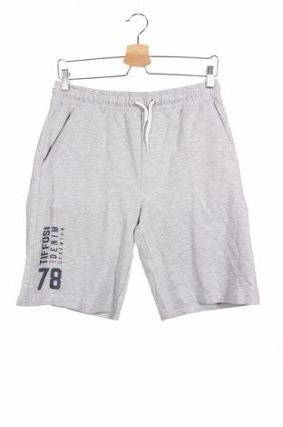 Παιδικό κοντό παντελόνι Tiffosi, Μέγεθος 15-18y/ 170-176 εκ., Χρώμα Γκρί, 95% βαμβάκι, 5% βισκόζη, Τιμή 10,82€