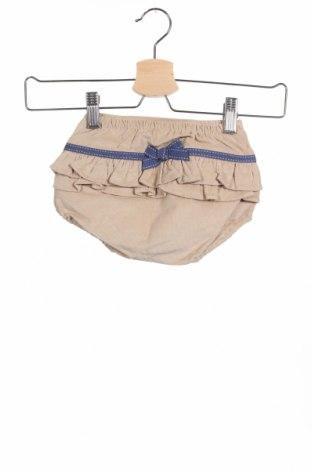 Παιδικό κοντό παντελόνι Tutto Piccolo, Μέγεθος 12-18m/ 80-86 εκ., Χρώμα  Μπέζ, 97% βαμβάκι, 3% ελαστάνη, Τιμή 15,08€