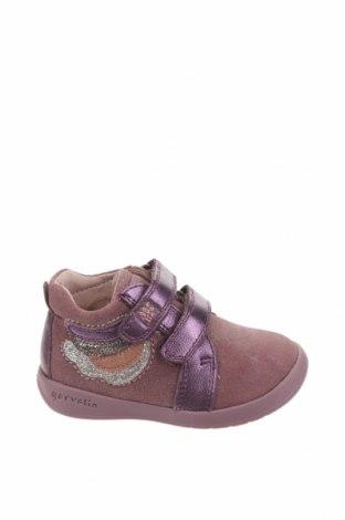 Детски обувки Garvalin, Размер 21, Цвят Розов, Естествен велур, естествена кожа, Цена 61,50лв.