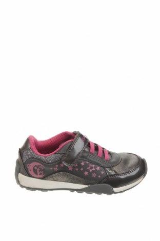 Παιδικά παπούτσια Geox, Μέγεθος 28, Χρώμα Γκρί, Δερματίνη, γνήσιο δέρμα, Τιμή 46,01€