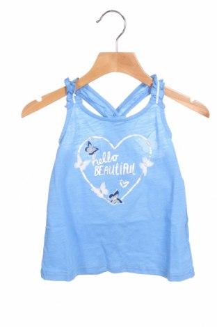 Μπλουζάκι αμάνικο παιδικό, Μέγεθος 2-3y/ 98-104 εκ., Χρώμα Μπλέ, Τιμή 10,05€