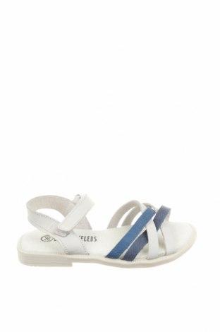 Детски сандали Little Celebs, Размер 26, Цвят Бял, Естествена кожа, Цена 51,75лв.