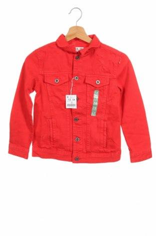 Παιδικό τζίν μπουφάν Lft, Μέγεθος 7-8y/ 128-134 εκ., Χρώμα Κόκκινο, Βαμβάκι, Τιμή 16,24€