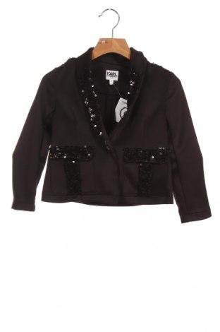Sacou pentru copii Karl Lagerfeld, Mărime 2-3y/ 98-104 cm, Culoare Negru, 95% poliester, 5% elastan, Preț 117,93 Lei