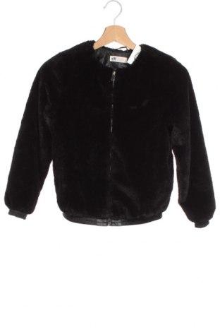 Dziecięca kurtka H&M, Rozmiar 10-11y/ 146-152 cm, Kolor Czarny, Poliester, Cena 73,50zł