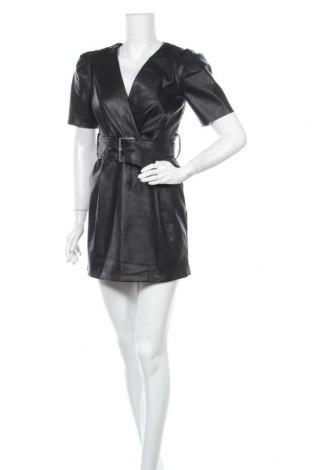 Кожена рокля Bershka, Размер S, Цвят Черен, Еко кожа, Цена 39,00лв.