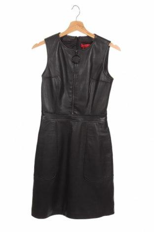 Δερμάτινο φόρεμα Hugo Boss, Μέγεθος XS, Χρώμα Μαύρο, Γνήσιο δέρμα, Τιμή 319,64€