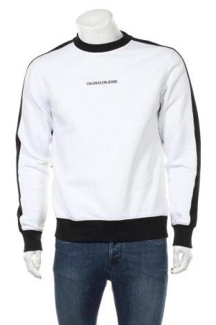 Мъжка блуза Calvin Klein Jeans, Размер M, Цвят Бял, 50% памук, 50% полиестер, Цена 79,57лв.