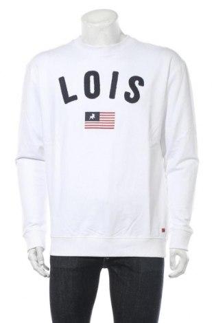 Мъжка блуза Lois, Размер M, Цвят Бял, 98% памук, 2% вискоза, Цена 22,77лв.