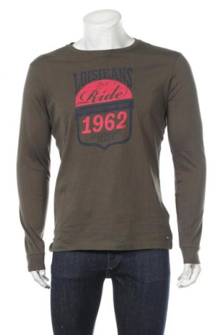 Мъжка блуза Lois, Размер M, Цвят Зелен, Памук, Цена 20,65лв.