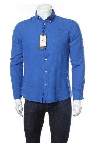 Ανδρικό πουκάμισο Alvaro Moreno, Μέγεθος M, Χρώμα Μπλέ, 55% λινό, 45% βαμβάκι, Τιμή 24,74€