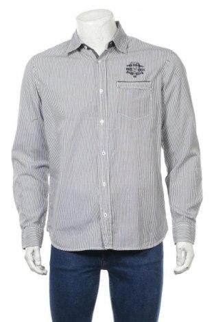 Мъжка риза Angelo Litrico, Размер M, Цвят Сив, 100% памук, Цена 15,17лв.