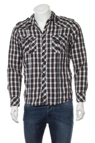 Мъжка риза Angelo Litrico, Размер S, Цвят Многоцветен, Памук, Цена 15,17лв.