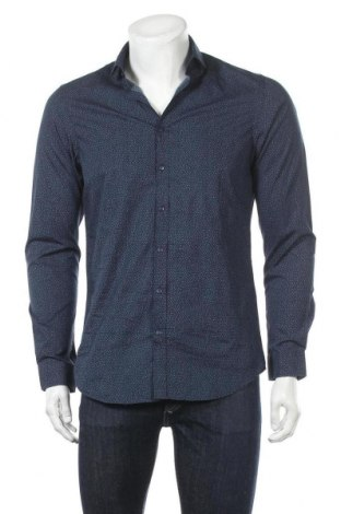 Мъжка риза Angelo Litrico, Размер S, Цвят Син, 100% памук, Цена 15,17лв.