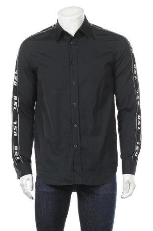 Мъжка риза Diesel, Размер M, Цвят Син, Памук, Цена 42,25лв.