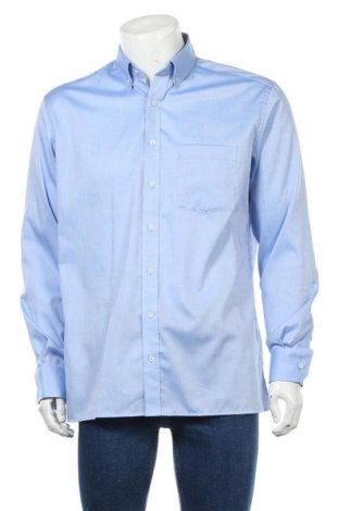 Мъжка риза Eterna, Размер L, Цвят Син, Памук, Цена 24,15лв.