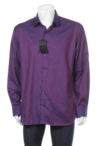 Мъжка риза Eterna, Размер XL, Цвят Лилав, Памук, Цена 22,40лв.