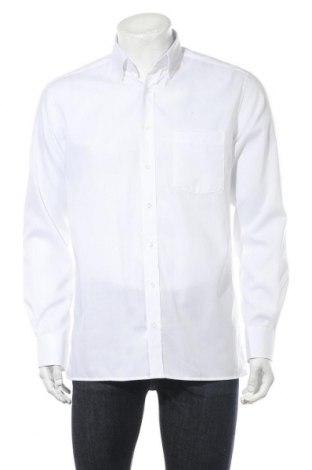 Мъжка риза Eterna, Размер M, Цвят Бял, Памук, Цена 20,65лв.