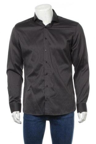 Мъжка риза Eterna, Размер L, Цвят Черен, Памук, Цена 17,96лв.