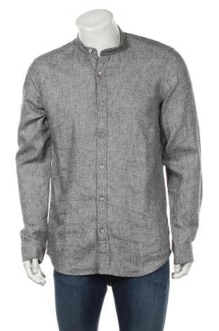 Ανδρικό πουκάμισο Hot Buttered, Μέγεθος XL, Χρώμα Γκρί, 55% λινό, 45% βαμβάκι, Τιμή 20,88€