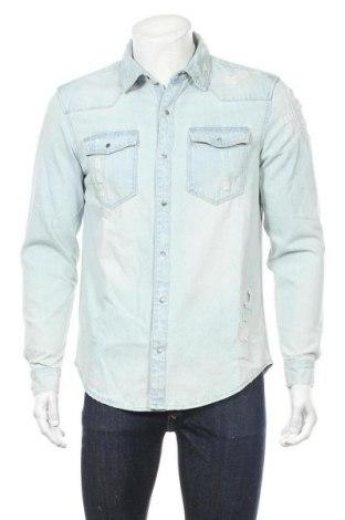 Мъжка риза Lft, Размер M, Цвят Син, Памук, Цена 26,53лв.