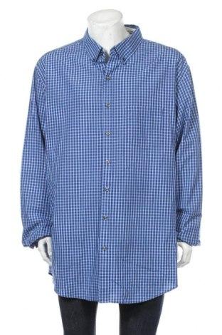 Мъжка риза Van Heusen, Размер 4XL, Цвят Син, 60% памук, 40% полиестер, Цена 15,12лв.