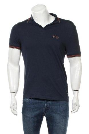 Pánské tričko  Boss, Velikost S, Barva Modrá, 92% bavlna, 8% elastan, Cena  1152,00Kč