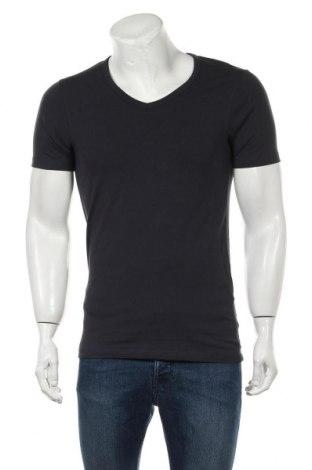 Мъжка тениска Jack & Jones, Размер M, Цвят Син, 92% памук, 8% еластан, Цена 16,90лв.