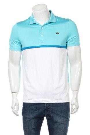 Мъжка тениска Lacoste, Размер S, Цвят Син, 94% полиестер, 6% еластан, Цена 114,71лв.