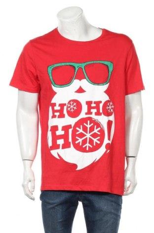Мъжка тениска Mantaray, Размер XXL, Цвят Червен, Памук, Цена 17,85лв.